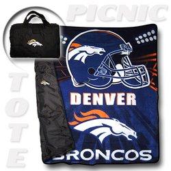 """Denver Broncos """"Tote A Long"""" NFL Picnic Blanket    Nor1Den-176PicnicTote"""