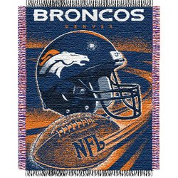 Denver Broncos Triple Woven Jacquard NFL Throw    Nor1Den-019Series