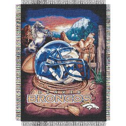 Denver Broncos Woven Tapestry NFL Throw    Nor1Den-051HFA