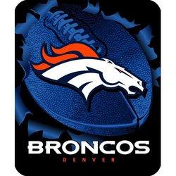 Denver Broncos Royal Plush Raschel NFL Blanket    Nor1Den-703Burst
