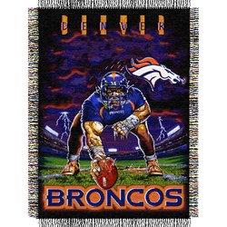 Denver Broncos Triple Woven Tapestry NFL Throw    Nor1Den-051TPS