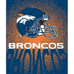 Denver Broncos Royal Plush Raschel NFL Blanket  Nor1Den-702Lights