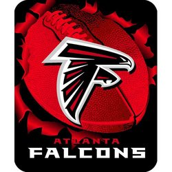 Atlanta Falcons Royal Plush Raschel NFL Blanket   Nor1Atl-703Burst