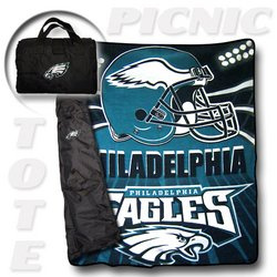 "Philadelphia Eagles ""Tote A Long"" NFL Picnic Blanket   Nor1Phi-176PicnicTote"