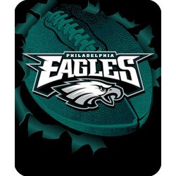 Philadelphia Eagles Royal Plush Raschel NFL Blanket    Nor1Phi-703Burst