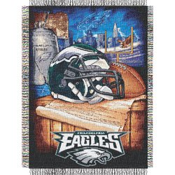 Philadelphia Eagles Woven Tapestry NFL Throw    Nor1Phi-051HFA