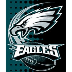 Philadelphia Eagles Royal Plush Raschel NFL Blanket   Nor1Phi-800Flash