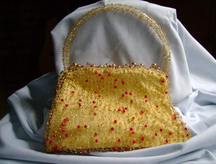 Gold and Red Evening Purse