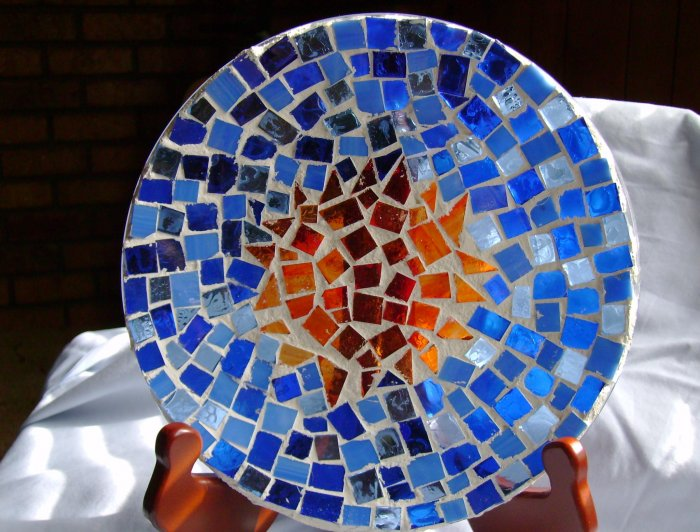 Sun and Sky Mosaic Plate