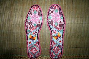 Hand-embroidered Shoe Insoles of Chinese Ethnic Minority
