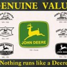 John Deere Logos-Tin Sign