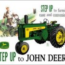 John Deere Step Up-Tin Sign