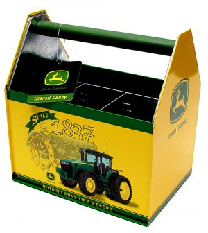 Galvanized Utensil Caddy-John Deere