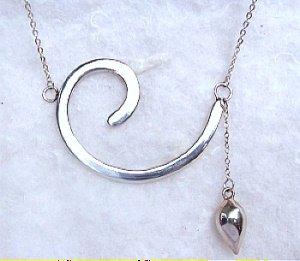 Sterling Silver Modernist Design Necklace