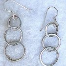 Sterling Silver Chainmail Circle Earrings