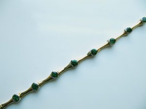 Gold Bracelet with Emeralds