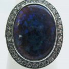 Black Opal Ring