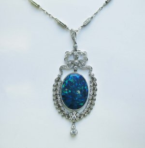 Elegant Black Opal Necklace