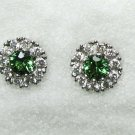 Tsavorite and Diamond Studs
