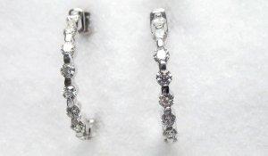 Diamond Hoop Earrings 3