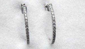 Diamond Hoop Earrings 4