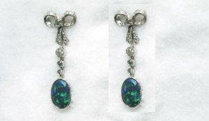 Unique Black Opal Earrings