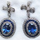 Unique Sapphire and Diamond Earrings