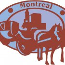 Montreal Passport Style Wall Graphic