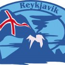 Reykjavik Passport Style Wall Graphic