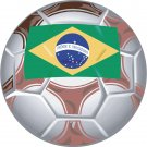Brazil Soccer Ball Flag Wall Decal