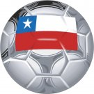 Chile Soccer Ball Flag Wall Decal