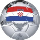 Croatia Soccer Ball Flag Wall Decal