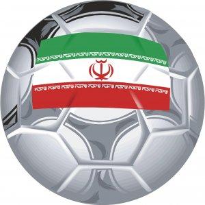 Iran Soccer Ball Flag Wall Decal