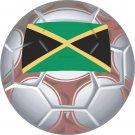 Jamaica Soccer Ball Flag Wall Decal