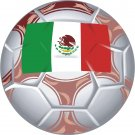 Mexico Soccer Ball Flag Wall Decal