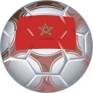 Morocco Soccer Ball Flag Wall Decal