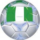Nigeria Soccer Ball Flag Wall Decal