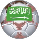Saudi Arabia Soccer Ball Flag Wall Decal