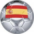 Spain Soccer Ball Flag Wall Decal