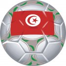 Tunisia Soccer Ball Flag Wall Decal