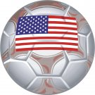 United States Soccer Ball Flag Wall Decal