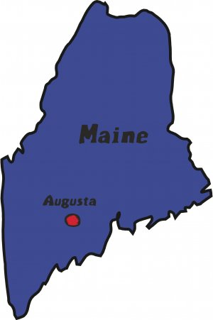 Maine State Map Wall Decal