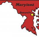 Maryland State Map Wall Decal