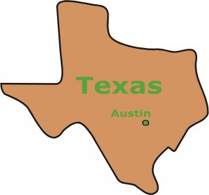 Texas State Map Wall Decal