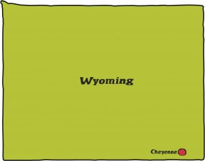 Wyoming State Map Wall Decal