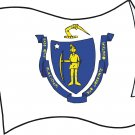 Massachusetts State Flag Wall Decal