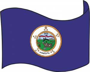 Minnesota State Flag Wall Decal