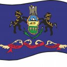 Pennsylvania State Flag Wall Decal