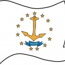 Rhode Island State Flag Wall Decal