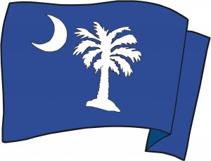 South Carolina State Flag Wall Decal